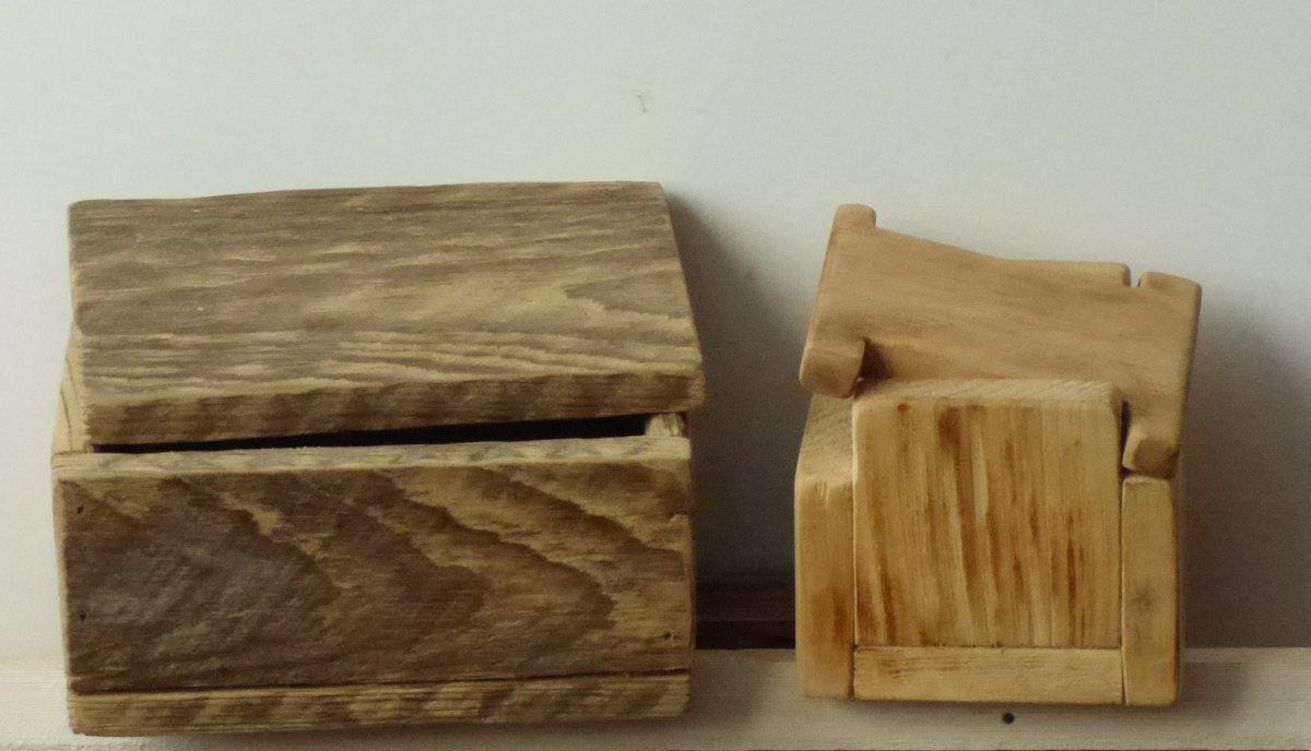 Wooden box C.D